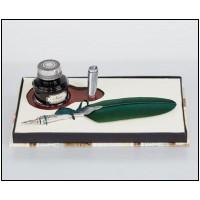 Набор  для каллиграфии LaKalligrafica 2551 - перо, Деревянная настольная подставка, чернило