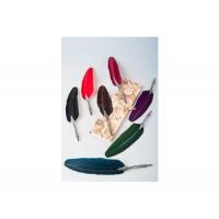 Гусиное Перо с Арабеска Dallaiti Piu 02 - бордо, зеленый бархат,  коричневое, красное,синий бархат, фиолетовое, черное
