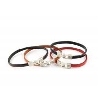 Кожаный  браслет Dallaiti, BC28, коричневый, бежевый, красный, черный