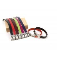 Кожаный  браслет Dallaiti, BC35, коричневый, красный, черный, бежевый, зеленый, оранжевый,  фиолетовый