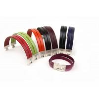 Кожаный  браслет Dallaiti, BC36, коричневый, красный, черный, бордо, зеленый, оранжевый,  фиолетовый