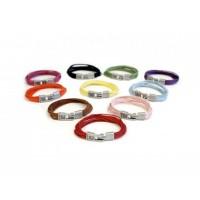 Кожаный  браслет Dallaiti, BC39. коричневый, красный, черный, желтый, голубой, розовый, фиолетовый. фуксия