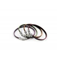 Кожаный  браслет Dallaiti, BC44, красный,, зеленый,  фиолетовый, оранжевый