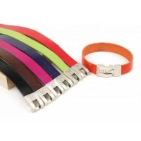Кожаный  браслет Dallaiti, BC68, коричневый, красный, черный, оранжевый, зеленый, фуксия, фиолетовый ,