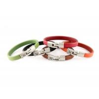 Кожаный  браслет Dallaiti, BC75, коричневый, красный, черный, оранжевый, зеленый,