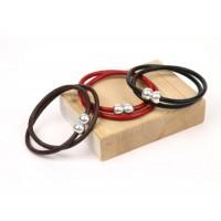 Кожаный  браслет Dallaiti, BC76, коричневый, красный, черный