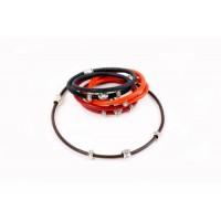 Кожаный  браслет Dallaiti, BC77, коричневый, красный, черный