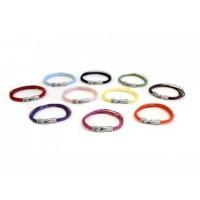 Кожаный  браслет Dallaiti, BC38. коричневый, красный, черный, желтый, голубой, розовый, фиолетовый. фуксия