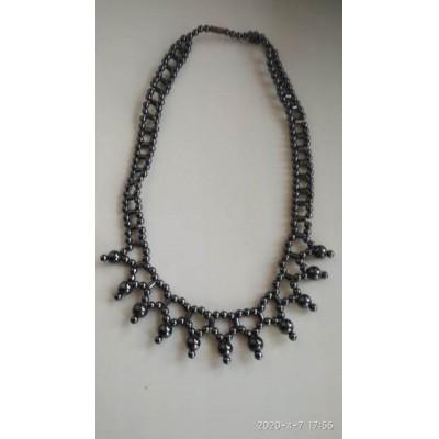 Ожерелье из гематита , натуральный камень