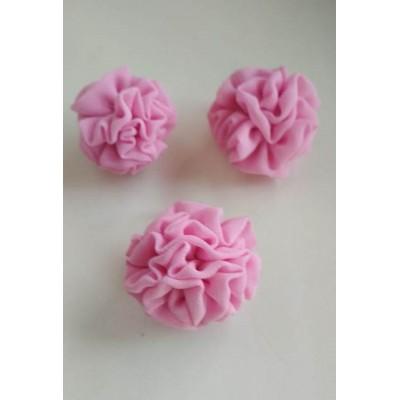 Серьги  и кольцо розовые, ручная работа