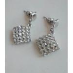 Серьги серебро с камнями блестящие