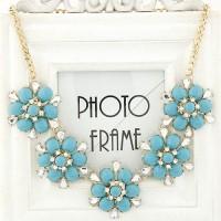 """Ожерелье  """"Голубые цветы"""""""