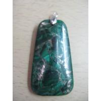 Кулон  -малахит с пиритовым отблеском,  натуральный камень, цвет - зеленый