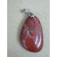 Кулон  из натуральной яшмы красной