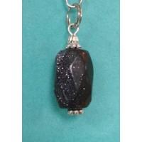 Кулон  -  синий авантюрин , натуральный камень