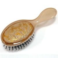Расческа для волос из пластика, Akcent, Mari N, Франция, E764BGE-B0119, бежевая с золотистым  декором