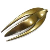 """Заколка """"Краб"""", зажим боковой для волос, французский пластик, AKCENT, K38082-146c, коричневый"""