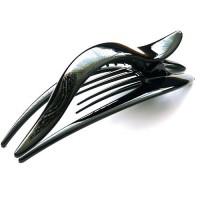 "Заколка ""Краб"", зажим боковой для волос, французский пластик, AKCENT, K38082-bl, черная"