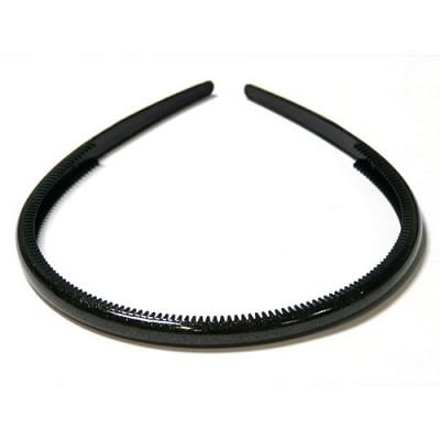 Ободок черный , французский пластик, OP105-blc,  AKCENT