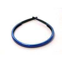 Ободок  синий , французский пластик, OP105-rb  AKCENT