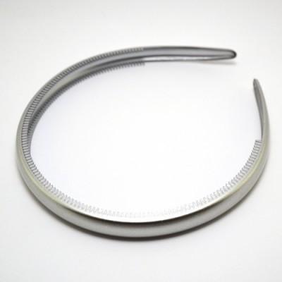 Ободок, французский пластик, Акцент,  OP110-850, серый