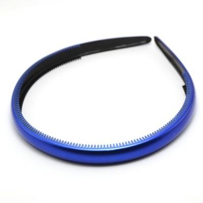 Ободок, французский пластик, Акцент, OP110-rb, синий