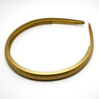 Ободок, французский пластик, Акцент,  OP110-zlm, золотой матовый