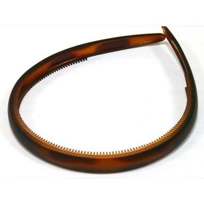 Ободок, французский пластик, Акцент, OP110-vsm, коричневый  матовый