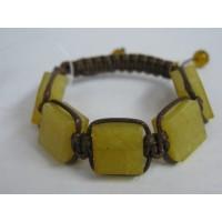 Плетенный браслет   шамбала из светлого  медового янтаря , янтарь натуральный