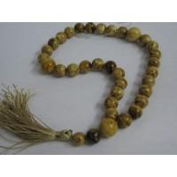 Четки из бусин янтаря с кисточкой, янтарь натуральный полесский