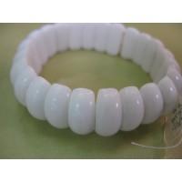 Браслет  -кахолонг-натуральный камень,  белый