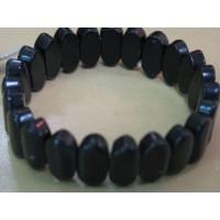 Браслет - агат черный, науральный камень