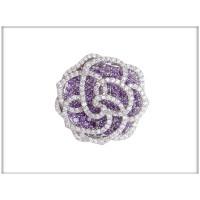 Брошь, Код: B 62978, ювелирная бижутерия , броши , Blue Dolphin с фиолетовыми   кристаллами