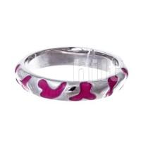 Кольцо -  розовое , родий ,  Blue Dolphin , емаль,Е64411