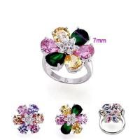 """Кольцо """"Разноцветный цветок"""""""