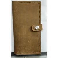 Элитное портмоне , кошелек, натуральная телечья кожа, цвет олива,  прошитый вручную вощеной ниткой, ручнаяработа, стильный дизай под  винтаж