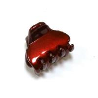 """Заколка  для волос """"Автомат"""",  французская , AKCENT, Mari N,   NK341-1138br81, красная"""