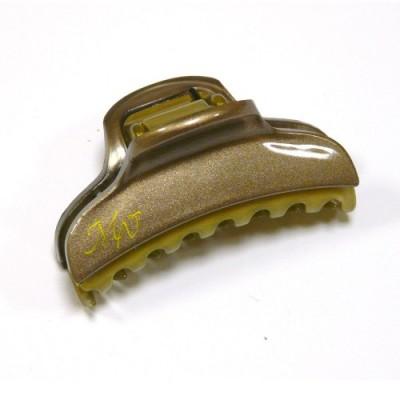 """Заколка  для волос """"Краб""""    ,  французская , AKCENT,  NK938-1138bg8, песочный с золотом"""