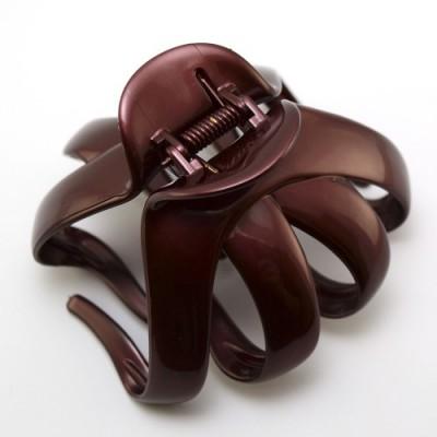 "Заколка  для  ""Краб"", французский пластик с кристаллами, Акцент, Франция,  K38073-133c"