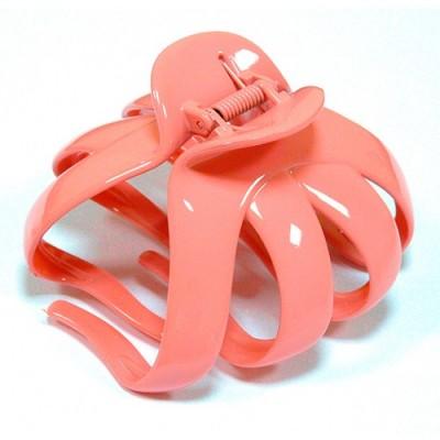 "Заколка ""Краб"", французский пластик с кристаллами, Акцент K38073-255"