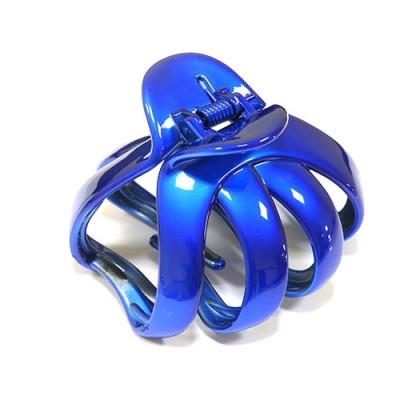 """Заколка """"Краб"""", французский пластик, Акцент, AKCENT, K38075-rb, синий електрик"""