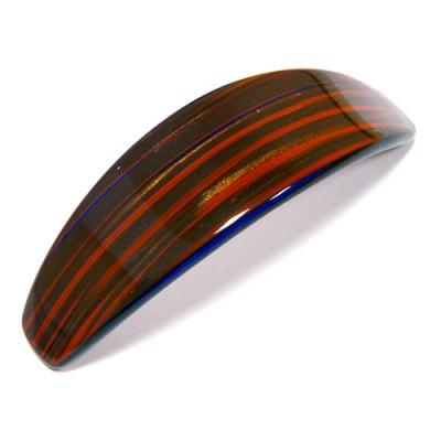 "Заколка  дляЗаколка  для волос ""Автомат"", французский пластик, AKCENT,  A123-357, коричнево-рыжая"