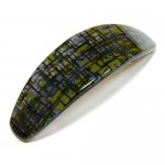"Заколка  для волос ""Автомат"", французский пластик с кристаллами, Акцент, A123-415"