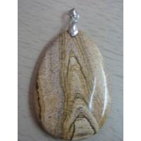 Кулон  из яшмы - калахари натуральной, цвет желтый, песочный