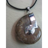 Кулон  -  аммонит, натуральный камень