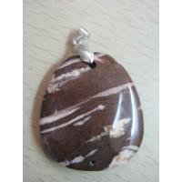 Кулон - яшма пейзажная,  натуральный камень
