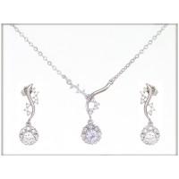Набор - ожерелье, серьги  -ювелирная бижутерия Blue Dolphin, код. 63301