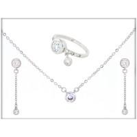 Набор - ожерелье, кольцо, серьги - ювелирная бижутерия  Blue Dolphin, код. 63463