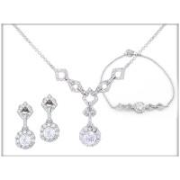 Набор - ожерелье, браслкт, серьги - ювелирная бижутерия Blue Dolphin, код.63524