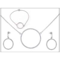 Набор - ожерелье, серьги, браслет - ювелирная бижутерия Blue Dolphin, код. 63511